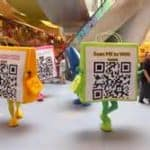 Retailers in international destination cities are once again featuring QR Codes to display the technology the Asian visitor market is accustomed to using